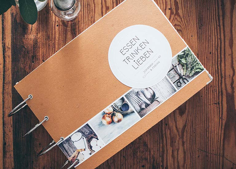 Individuelle Hochzeits-Papeterie Hannover | Save the date Einladungskarte Antwortkarte Kochbuch