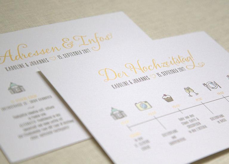 Individuelle Hochzeits-Papeterie Hannover | Save the date Einladungskarte Antwortkarte Ablaufplan