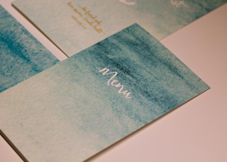 Individuelle Hochzeits-Papeterie Hannover | Save the date Einladungskarte Antwortkarte Tischkarte Menü
