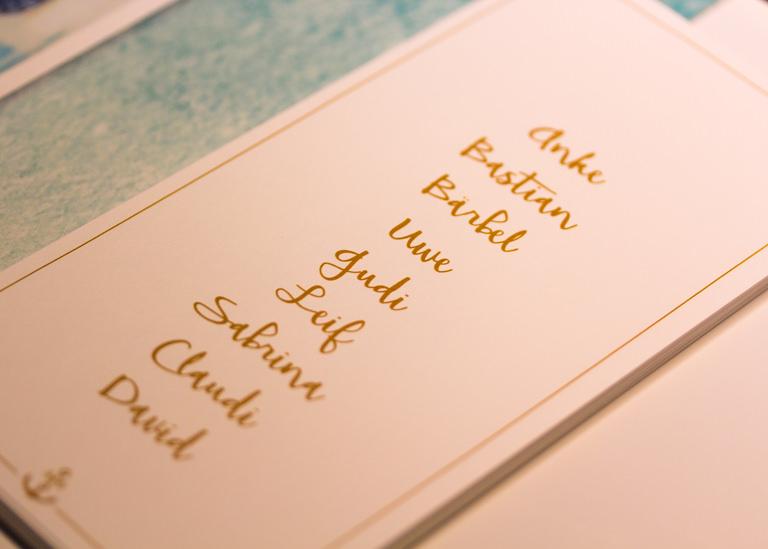 Individuelle Hochzeits-Papeterie Hannover | Save the date Einladungskarte Antwortkarte Tischkarte