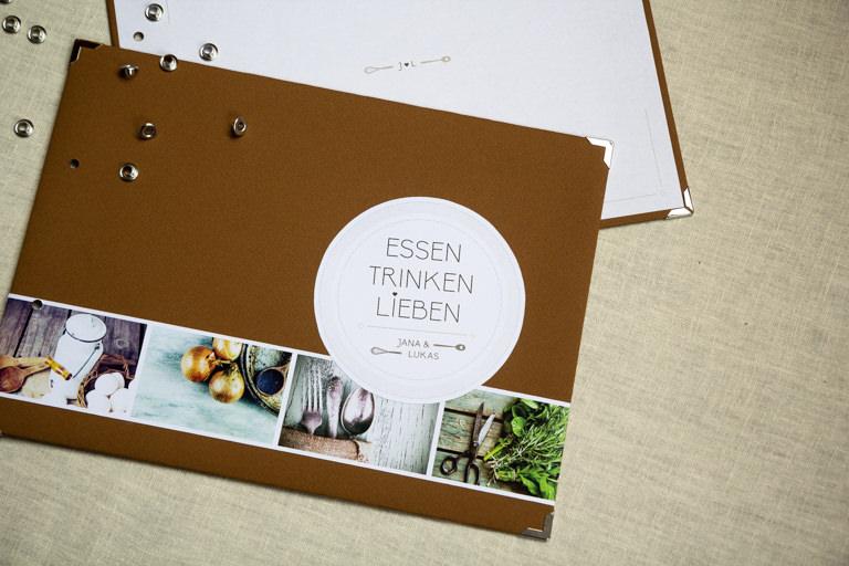 Individuelle Hochzeits-Papeterie Hannover | Save the date Einladungskarte Gästebuch Kochbuch