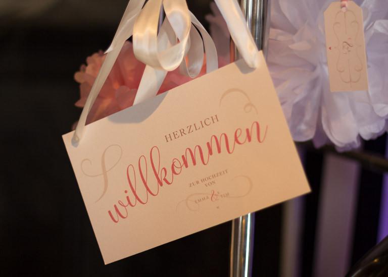 Individuelle Hochzeits-Papeterie Hannover | Save the date Einladungskarte Willkommensschild