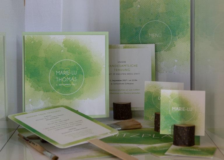 Individuelle Hochzeits-Papeterie Hannover | Save the date Einladungskarte Tischdeko Gästebuch Fächer Ablauf