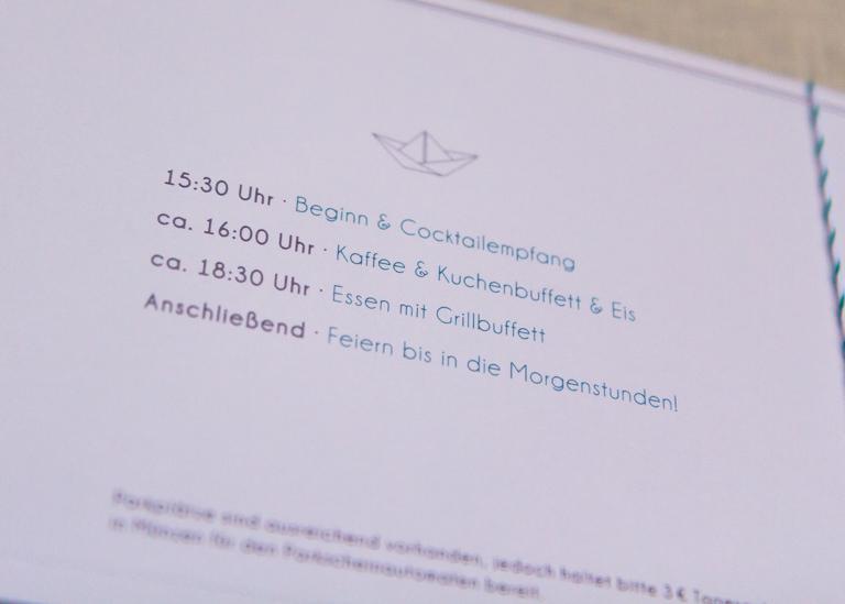 Individuelle Hochzeits-Papeterie Hannover   Save the date Einladungskarte Antwortkarte Ablauf