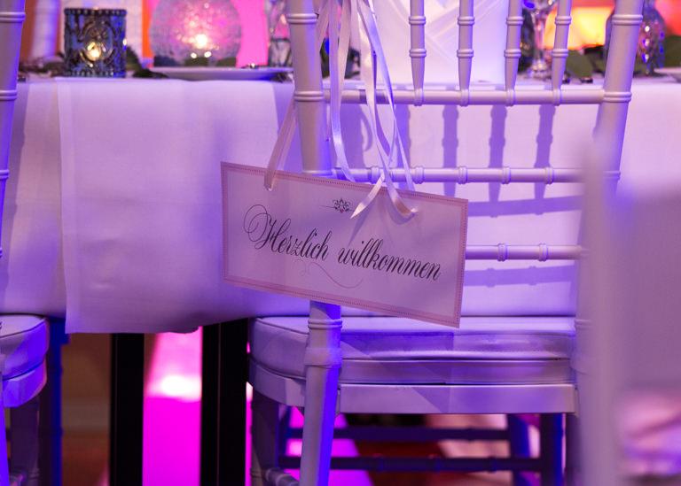 Individuelle Hochzeits-Papeterie Hannover | Menükarte Tischdeko Willkommensschild