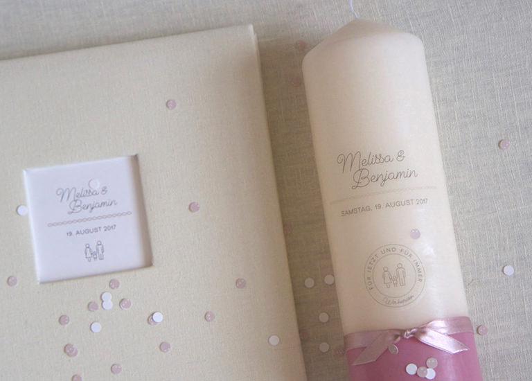 Individuelle Hochzeits-Papeterie Hannover | Save the date Einladungskarte Antwortkarte Traukerze Gästebuch