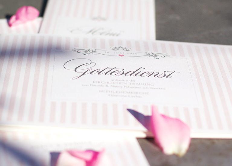 Individuelle Hochzeits-Papeterie Hannover | Save the date Einladungskarte Antwortkarte Kirchenheft