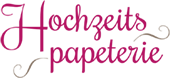 Individuelle Hochzeits-Papeterie Logo