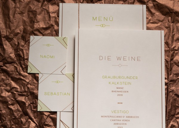 Individuelle Hochzeits-Papeterie Hannover | Fächer Programmheft Menü Tagesablauf Tischkarten