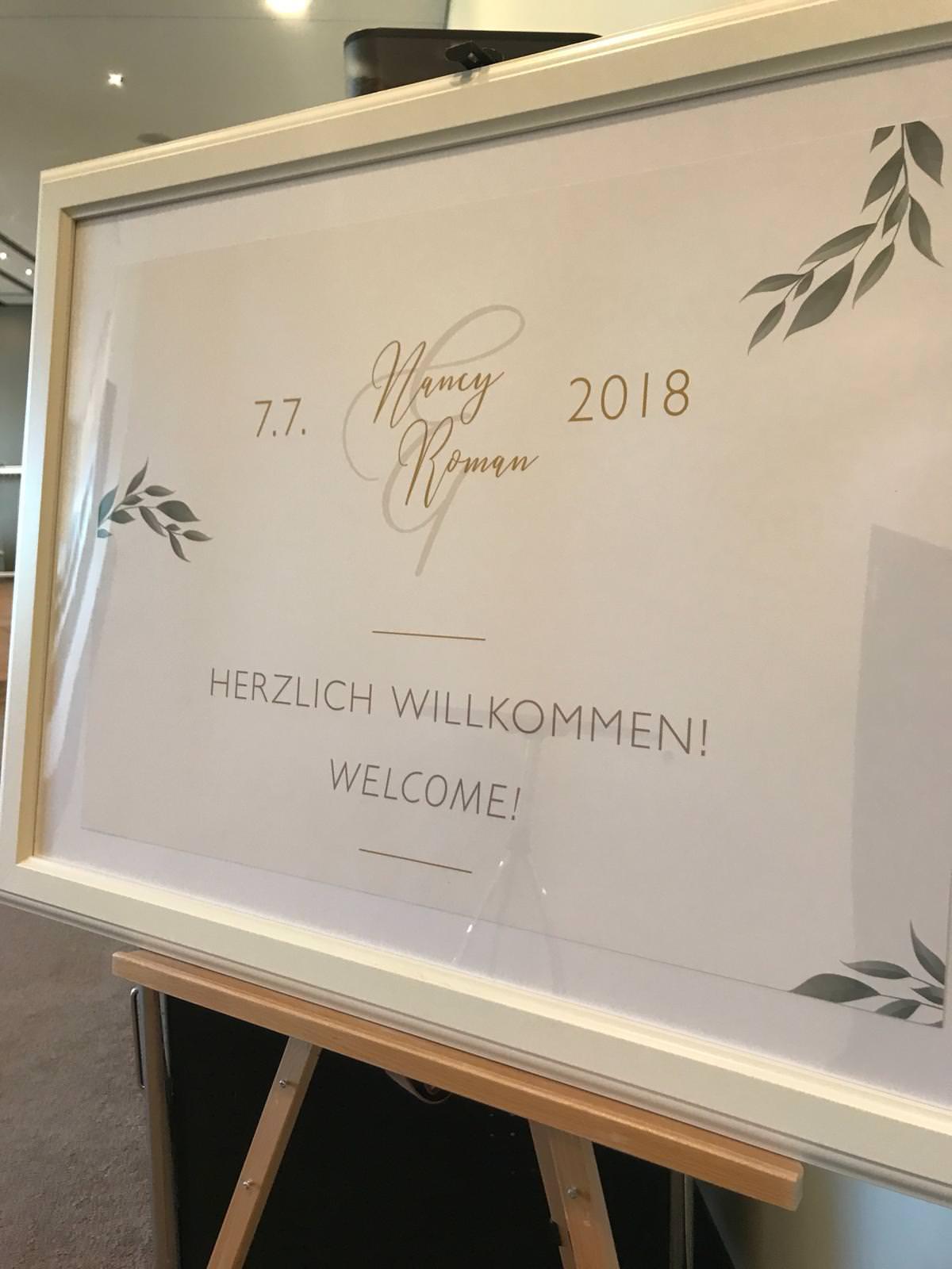 Individuelle Hochzeits-Papeterie Hannover   Willkommensschild