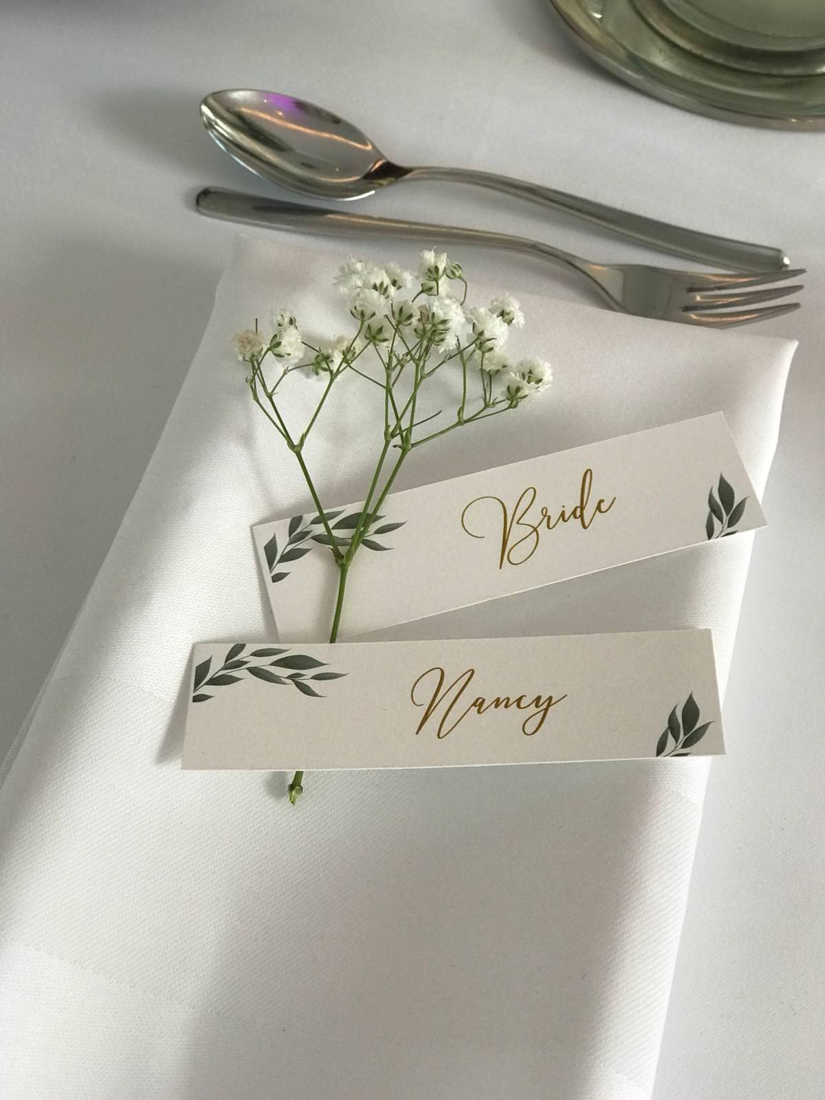 Individuelle Hochzeits-Papeterie Hannover   Tischdekoration
