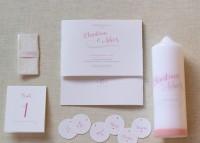 Individuelle Hochzeits-Papeterie Hannover | Save the date Einaldungskarte Traukerze Anhänger Tischkarten Freudentränen