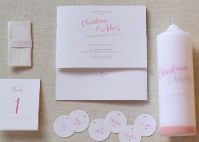 Individuelle Hochzeits-Papeterie Hannover   Save the date Einaldungskarte Traukerze Anhänger Tischkarten Freudentränen