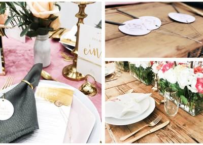 Individuelle Hochzeits-Papeterie Hannover   Save the date Menü Karten Anhänger